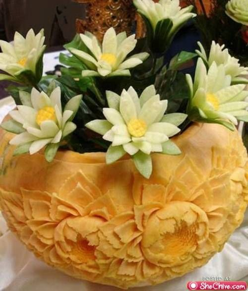 This is actually food carving!