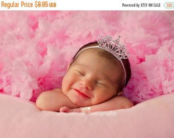 Baby hoofdband Baby Tiara hoofdband van TheFairyFactoryShop op Etsy