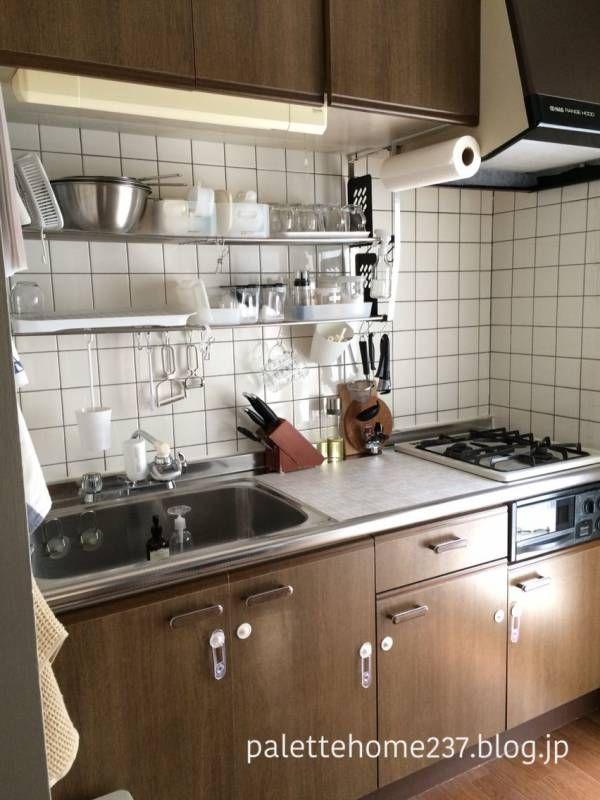 水切りかごがないキッチン 小さなキッチンのリフォーム 小さな