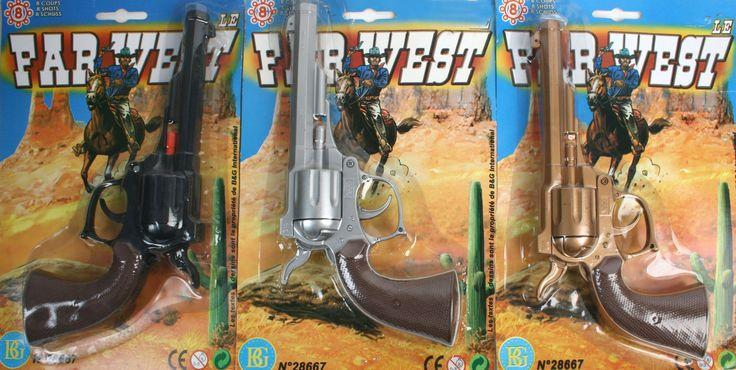 Cowboy pistoler til din Cowboy udklædning til temafesten