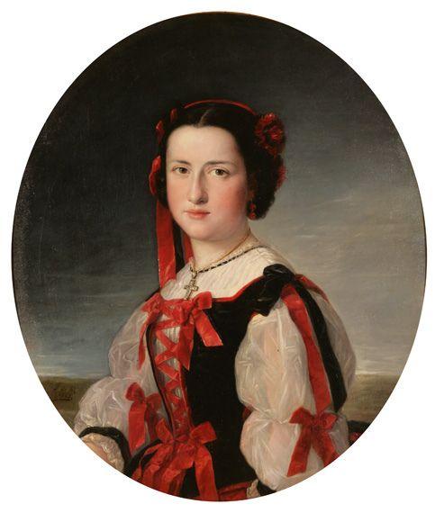 Federico de Madrazo, La Infanta Luisa Fernanda de Borbón, Óleo sobre lienzo, 1847