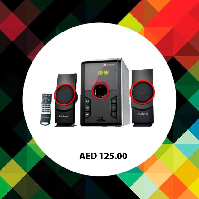 Audionic Max-5U 2.1 Channel Speaker. #Speakers #audionic #musicsystems #online #shopping #electronics #music #ChannelSpeakers