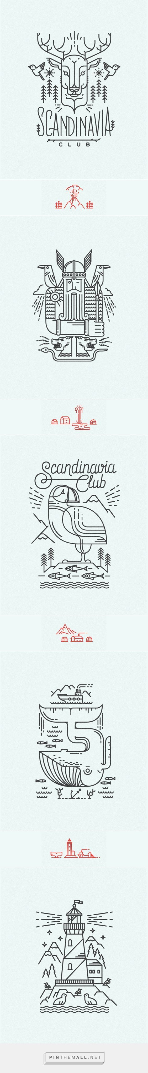 Scandinavian line illustrations for Scandinavia Club in Moscow | #illustration #design: