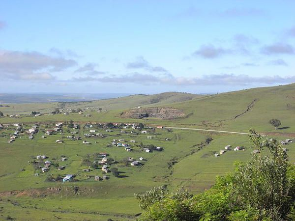 Xhosa settlement in the Transkei - Eastern Cape, South AFrica.