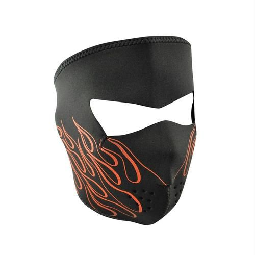 ZANheadgear Neoprene Full Mask - Orange Flame