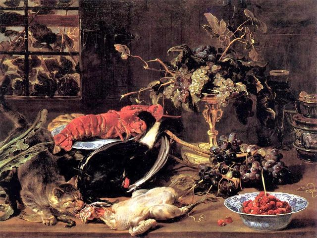 Frans Snyders - Still Life with Lobster, Poultry and Fruit: