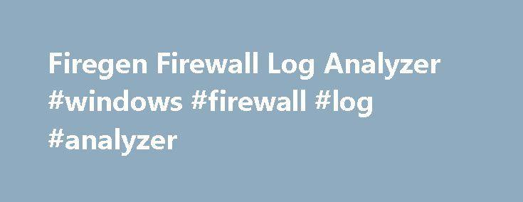 Firegen Firewall Log Analyzer #windows #firewall #log #analyzer http://baltimore.remmont.com/firegen-firewall-log-analyzer-windows-firewall-log-analyzer/  # Firegen 4 Firewall Log Analyzer is a log analyzer developed by firewall administrators. Its purpose is to replicate the steps that a real world firewall administrator would take in analyzing firewall logs. It provides support for several types of firewalls: AdTran, Cisco Pix, Cisco ASA, Cisco IOS, Fortigate, ipTables, Juniper SRX…