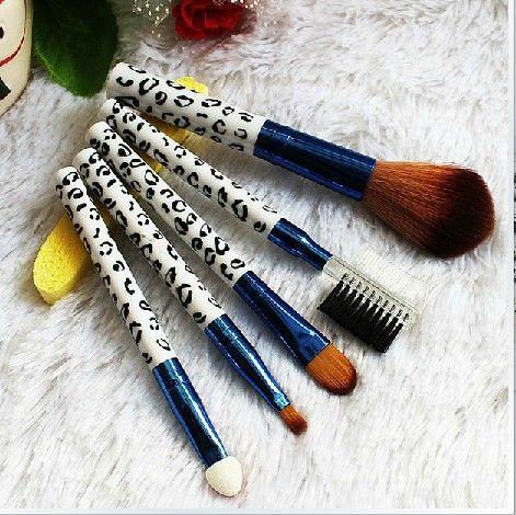 Mulheres 5 pçs/set profissional de cosméticos em pó facial escovas da sombra de maquiagem kits de sobrancelha brushes alishoppbrasil