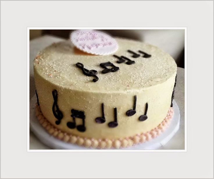 Best Cakes Images On Pinterest Music Cakes Biscuits And - Cake happy birthday song
