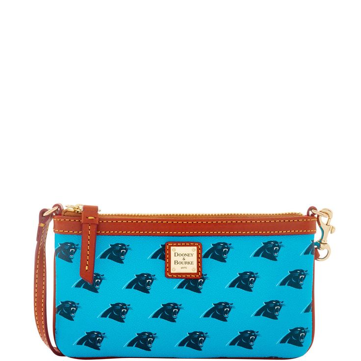 NFL Panthers Large Slim Wristlet