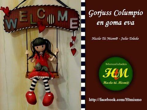 Gorjuss Columpio en goma eva - YouTube