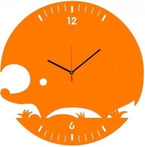 Фото Настенные часы DidiArt Ежик orange