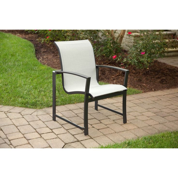 Agio Savoye Grey Aluminum Dining Chair (Grey), Patio Furniture