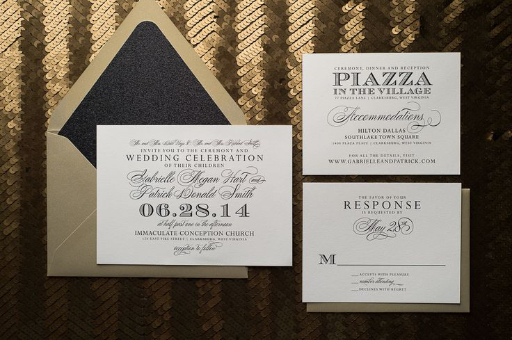 GABRIELLE Suite // STYLED // Glitter Package, Letterpress wedding invitation, discount wedding invitations, black and gold, glitter wedding invitation, Formal Wedding Invitation, Calligraphy Wedding Invitation, Wedding Planning, http://justinviteme.com/collections/styled-collections/products/gabrielle-suite-styled-glitter-package?variant=994489193