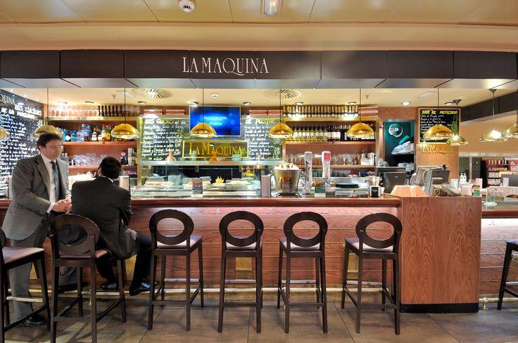 Frontal de la barra de La Máquina de La Castellana en el Gourmet Experience de El Corte Inglés