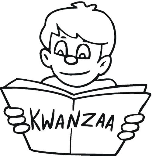 Reading About Kwanzaa Coloring Page