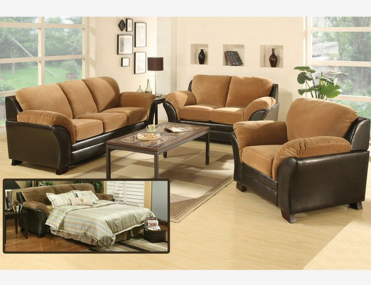 Chesterfield Sofa Mia Roman Coffee Suede Leather Sofa Couch Loveseat Queen Bed Sleeper