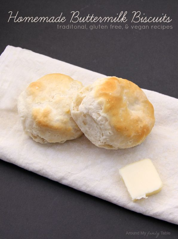 Homemade Buttermilk Biscuits with gluten free and dairy free options