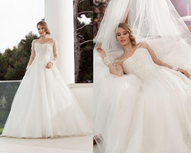 taş işlemeli ve dantelli prenses kabarık gelinlik modelleri 2016-nova bella gelinlik nişantaşı istanbul