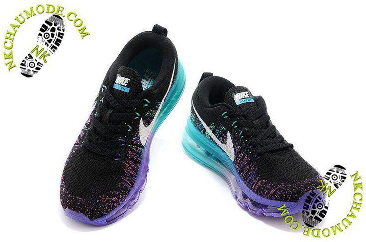 Air Max 2014 chaussures nike montante femme Pourpre/Bleu/Noir 002