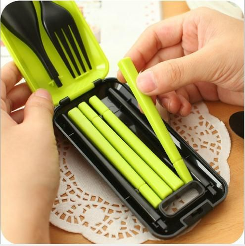HOT Creative Mini Combo Colander Strainer tableware set Portable Kitchen Tool Green Tableware With High Quality Made In China