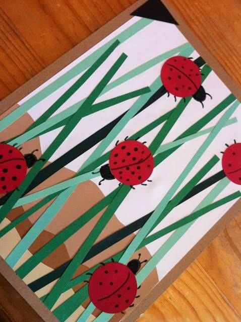 Layered Art - Ladybugs in grass