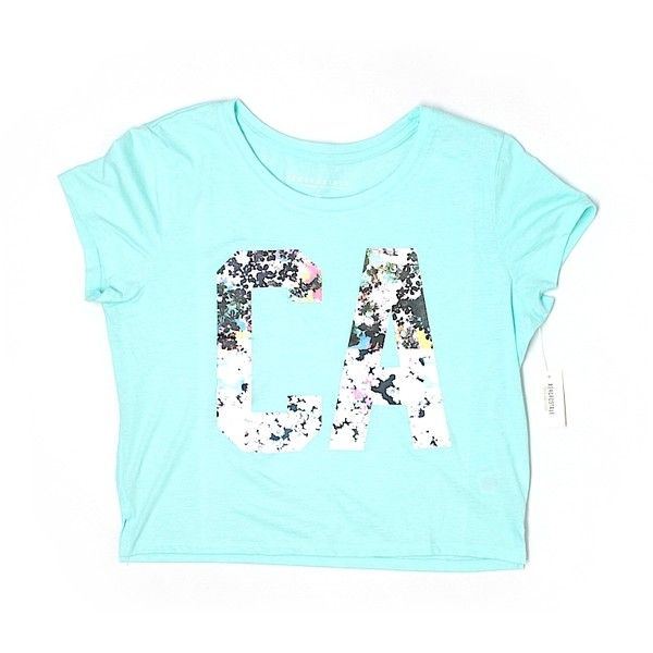 Aeropostale Short Sleeve T Shirt ($9.99) ❤ liked on Polyvore featuring tops, t-shirts, light blue, aeropostale tops, aeropostale tees, short sleeve t shirts, aéropostale and blue short sleeve top