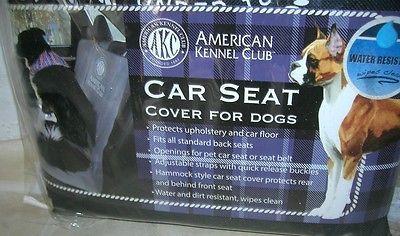 Dog-Car-Seat-Cover-American-Kennel-Club-Black-57-034-L-x-59-034-W-NEW