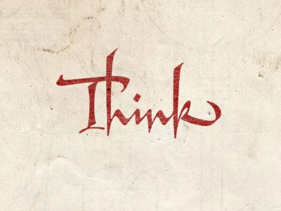 by Anton Mizinov. We should all think more, don't you think?