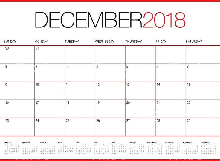 Blank December 2018 Calendar Word December 2018 Blank Calendar