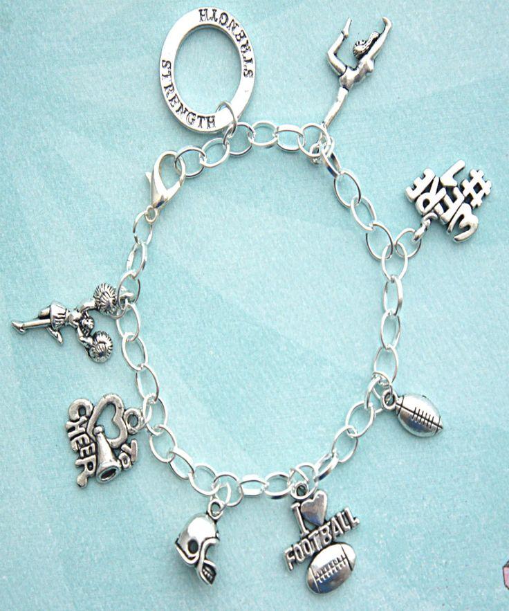 Cheer Charm Bracelets: Cheer Dancer Charm Bracelet