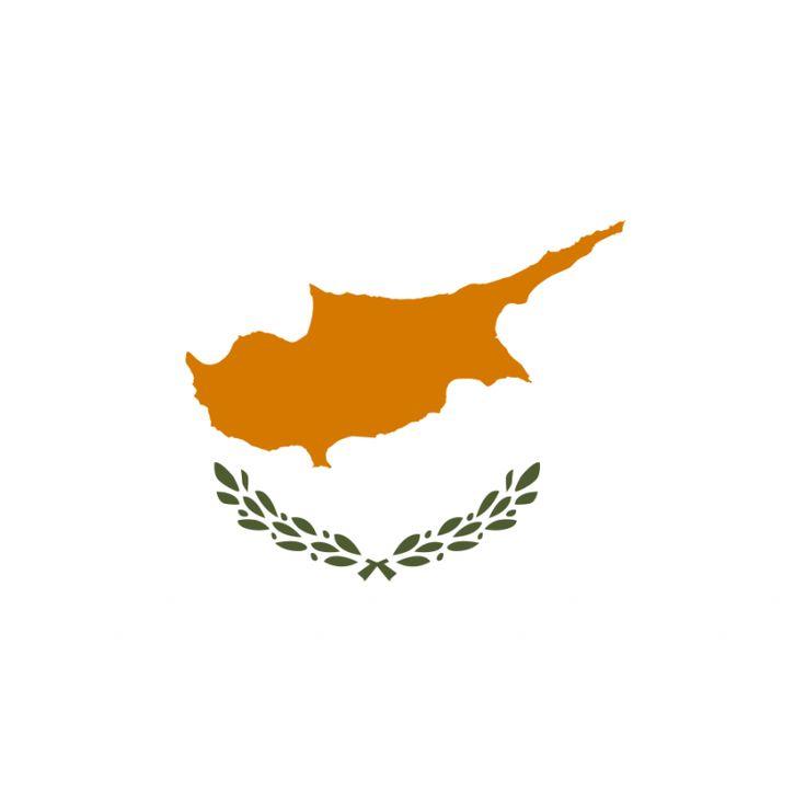 vlag Cyprus 100x150cm Cypriotische vlaggen De vlag van Cyprus werd op 16 augustus 1960 in gebruik genomen. Op een witte ondergrond zijn in kopergeel de contouren van het gehele eiland Cyprus aangegeven. Het kopergeel symboliseert de vele kopererts die in de Cypriotische bodem zit. Onder de afbeelding van het eiland staan twee olijftakken, als teken van vrede.
