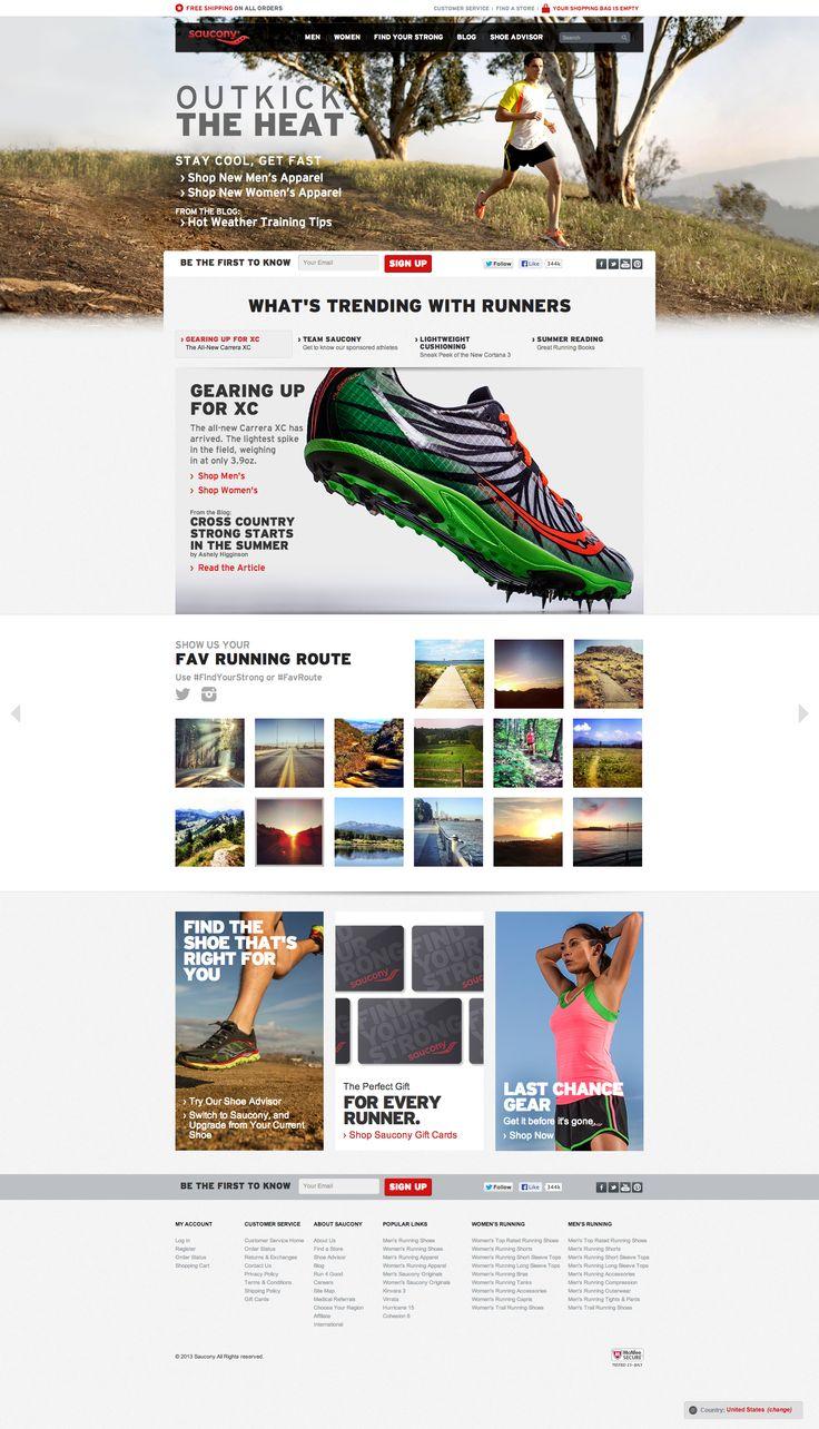 Saucony - Website (Homepage)