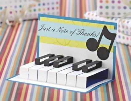 Music Piano keyboard card
