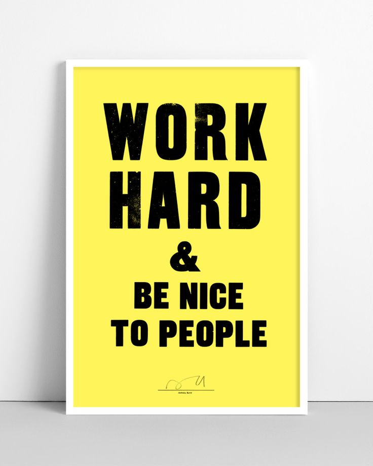 Anthony Burrill print to brighten up a room...