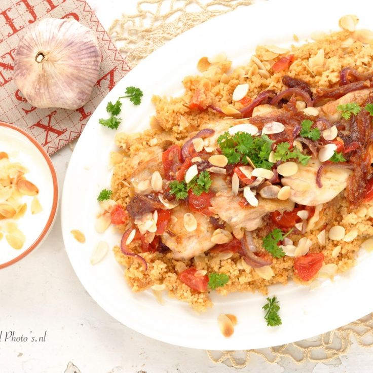 Kipdijfilet is malser dan de bekende kipfilet. Het komt van het bovenste gedeelte van de kippenpoot. Dit vlees is donkerder en volgens mij lekkerder, ik gebruik het vaker dan kipfilet. De combinatie van kip, couscous met groente en zoet-pittige kruidenmix komt vaak voor in de Marokkaanse keuken...