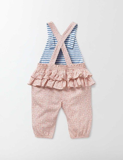 Printed Ruffle Overalls | Boden