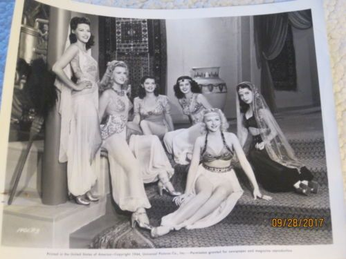 YVONNE DE CARLO & harem girls in1944 cheesecake pinup photo for Salome film 8x10
