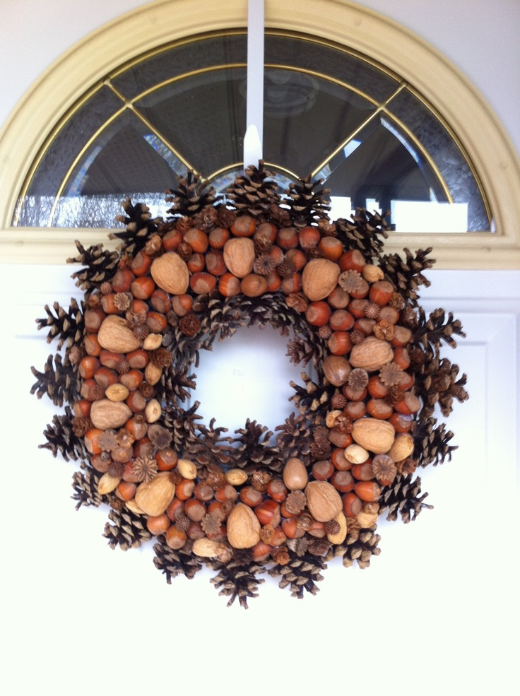 Pinecone and nut wreath