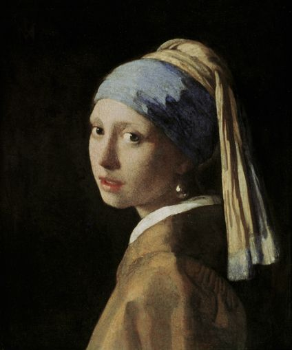 Girl with a Pearl Earring, Jan Vermeer - photo-wallpaper