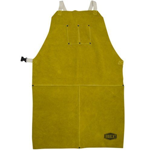 """IRONCAT 7010 Heat Resistant Leather Apron, 24"""" Width x 42"""" Height, Tan (Pack of 1)"""