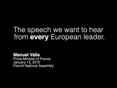"""In a moment of true political greatness French Prime Minister Manuel Valls accurately called """"anti-Semitism a symptom of a crisis in democracy"""". We need more..."""