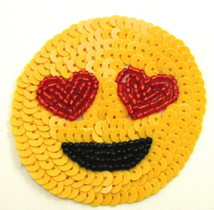 Smiley Face Emoji with Heart Eyes 2.5""