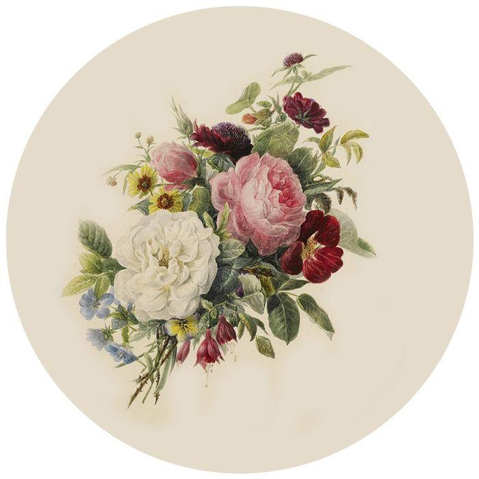 Картинки цветов в круге для декупажа