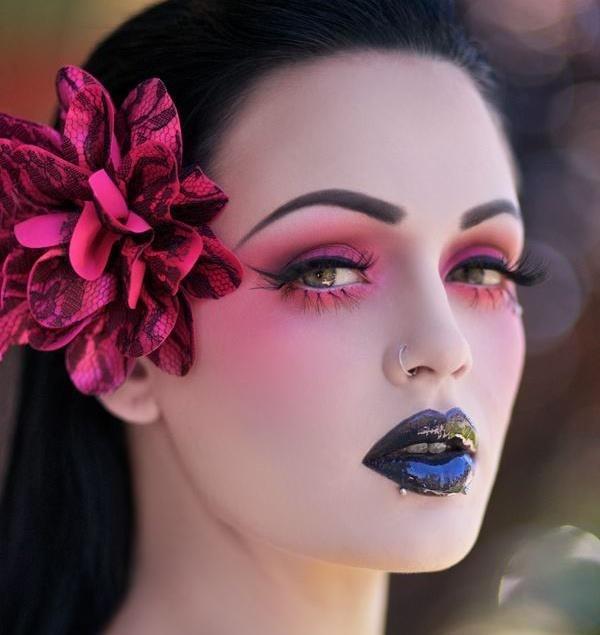 329 best goth fashion makeup regular makeup images on for Halloween makeup tattoos