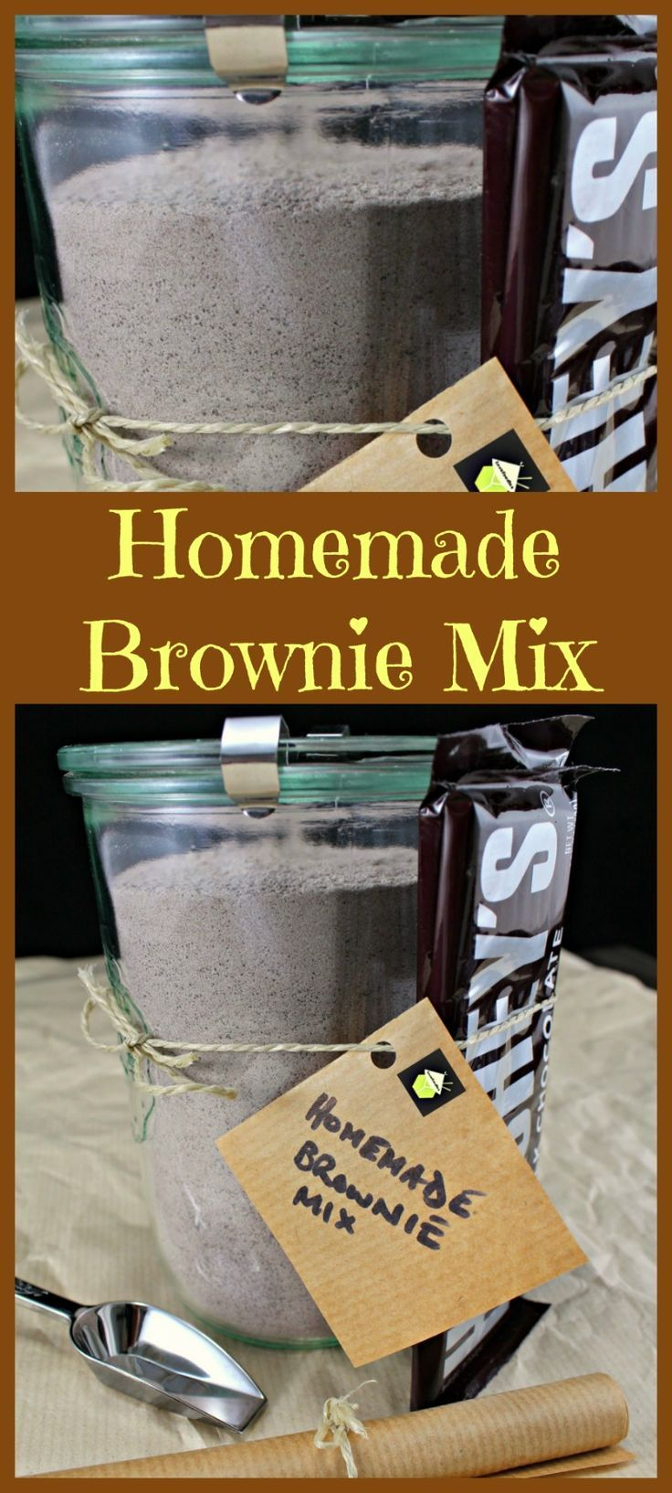 How to Make your Own Brownie Mix - A great idea for busy people or make up for gift packages with a bake pan and whisk! Be creative!