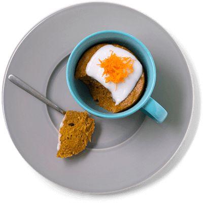 Fysen på gulrotkake? Her er en kjapp og enkel løsning: Lag deg en gulrotkake på 10 minutter i mikrobølgeovnen! Oppskrift på gulrotkake.
