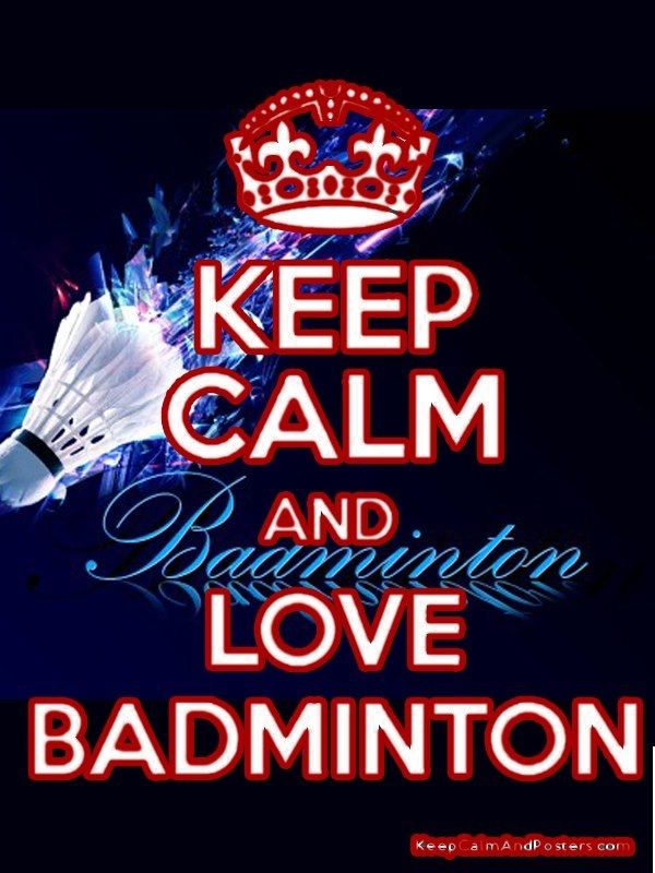 i seriously love playing badminton! I trained three times a week but quit now for over a year