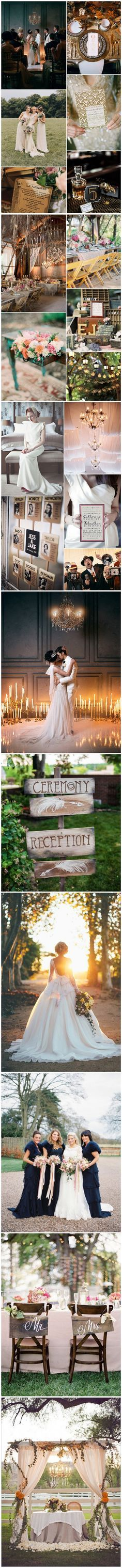 Wedding Trends 2015 - 1920's and 30's vintage wedding ideas