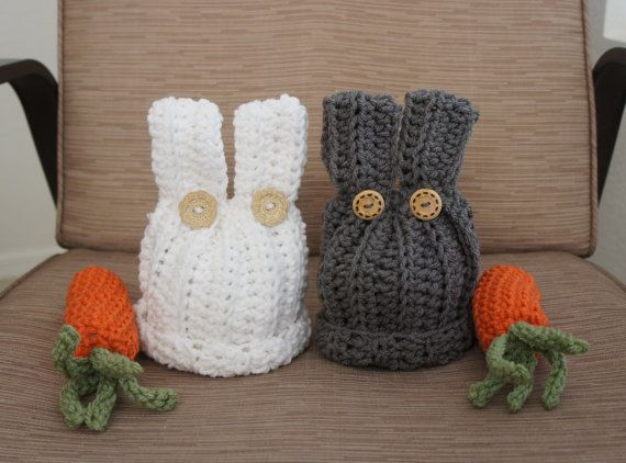 bunny hats and carrots prop twin set by Mariias on Etsy